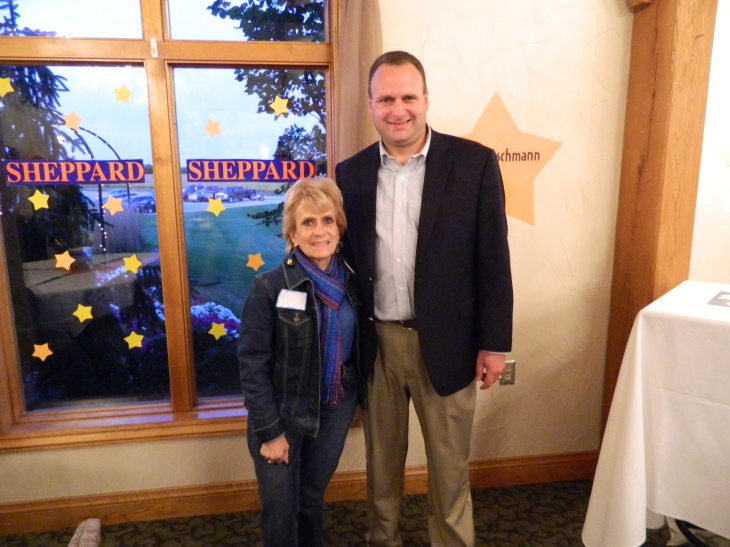 Former Michigan Senator Bev Hammerstrom with Jason Sheppard