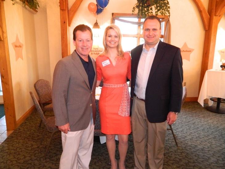 Jason with his wife, Melissa, and Senate Majority Leader Randy Richardville